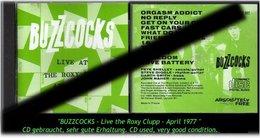 "BUZZCOCKS ""LIVE THE ROXY CLUP"" -R - Hard Rock & Metal"