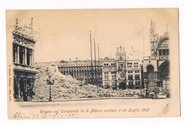 Cartolina - Postcard / Viaggiata - Sent / Rovine Del Campanile Di S. Marco Crollato Il 14/07/1902 - Venezia
