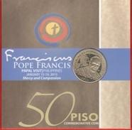 "Philippines 50 Piso 2015 ""Pope Francis Visit"" CoinCard UNC - Philippines"