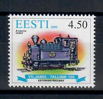 ESTONIA 2000 - TRENI - LOCOMOTIVA BELGA - MNH ** - Estonia