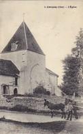 CORQUOY (18) – L'Eglise. Animée, Attelage. Sans Nom D'éditeur, N° 3. - Autres Communes