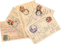 Lotto Di 9 Cartoline Postali ( 8 Franchigie ) Come Da Scansione  ( 212 ) - 1900-44 Vittorio Emanuele III