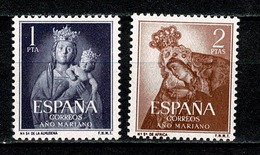 Spanje1954 Yv 850/851**, Edifil 1139/1140**, Mi 1035/1036**  MNH - 1931-Aujourd'hui: II. République - ....Juan Carlos I