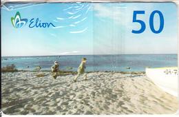 ESTONIA(chip) - Children On The Beach, Elion Telecard 50 Kr, Tirage 10000, 08/08, Mint - Estonia