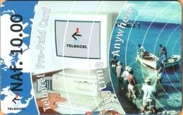 Antilles (Neth) - AN-BON-TBC-0001, Computer & Fishing,  GSM Refill, 10 NAƒ, Exp.Day 1/7/2001, Used - Antilles (Netherlands)