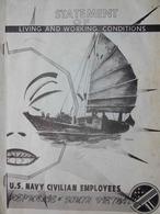 SUD-VIETNAM- U.S. NAVY- Livret STATEMENT OF LIVING AND WORKING CONDITIONS OF CIVILIAN EMPLOYEES - Fuerzas Armadas Americanas