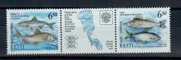 ESTONIA 2000 - FAUNA - PESCI DEL LAGO PEIPSI  - MNH ** - Estonia