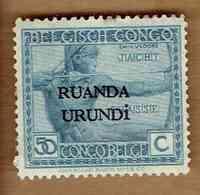 RUANDA-URUNDI.  (COB-OBP) 1924 - N°56 . *TIMBRES DU CONGO BELGE SURCHARGES RUANDA-URUNDI *  50c - Neuf - Ruanda-Urundi