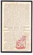 DP Elisabeth Nelissen ° Nerem Tongeren 1877 † Hakendover Tienen 1944 X I. Martin Xx E. Grossen / Cox Bongers Respen - Images Religieuses