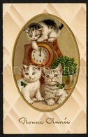 Postkaart / CPA / Postcard / Chats / Cats / Katten / Bonne Année / Unused / Ed. Pittius No 957 / 2 Scans - Chats