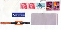 Auslands - Geschäfts-Brief Von Uttwil Mit 1,50 Franken Mischfrankatur Nicht Gestempelt - Switzerland