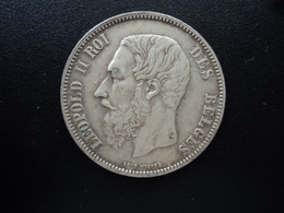 BELGIQUE : 5 FRANCS   1868  Tranche B *   KM 24    TTB - 1865-1909: Leopold II