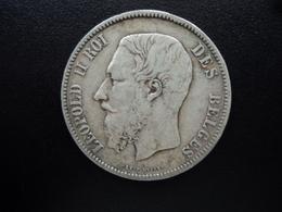 BELGIQUE : 5 FRANCS   1871  Tranche B *   KM 24    TTB - 09. 5 Francs