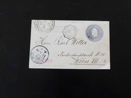 ENTIER POSTAL  -  CARTE POSTALE  DE BUENOS AIRES POUR WIEN  -  1899  -  CACHET DE BORDEAUX  - - Postwaardestukken