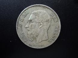 BELGIQUE : 5 FRANCS   1874  Tranche B *   KM 24    TTB - 1865-1909: Leopold II