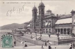 ESPAGNE.  SAN SEBASTIAN. CPA. EL GRAN CASINO. ANNÉE 1908 - Guipúzcoa (San Sebastián)