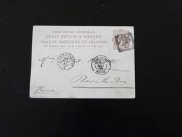 ENTIER POSTAL  -  CARTE POSTALE  1 PENNY  DE LONDRES POUR BAR LE DUC  -  1882  - - Stamped Stationery, Airletters & Aerogrammes