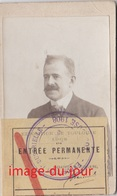 Photo Cdv  Exposition De Toulouse 1908 Carte Entrée Permanente - Photos