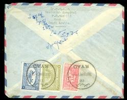 Saoedi-Arabië * Saudi Arabia * BRIEF  1959 By Air Mail  RYAD Naar DEN HAAG NEDERLAND   (11.454L) - Saudi Arabia