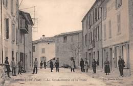 83 - Comps-sur-Artuby - La Gendarmerie - La Poste - Magnifique Animation - Comps-sur-Artuby