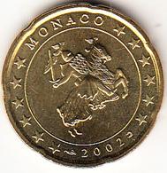 MONACO  2002.  20 CENTIMOS . NUEVA SIN CIRCULAR. CN4420 - Mónaco
