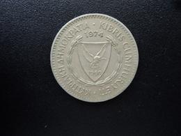 CHYPRE : 100 MILS   1974    KM 42     TTB+ - Chypre