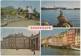 KOBENHAVN, COPENHAGEN, Multi View, 1982 Used Postcard [22178] - Denmark