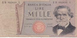 BILLETE DE ITALIA DE 1000 LIRAS DEL AÑO 1971 DE VERDI  (BANKNOTE) - [ 2] 1946-… : République
