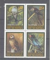 Micronesia   Michel #  391 - 94  Vögel - Micronesia