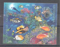 Micronesia   Michel #  402 - 05  Lagunen Der Insel Chuuk  Fische - Micronesia