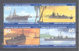 Micronesia   Michel #  435 - 38  Kriegsschiffe  WW II - Micronesia
