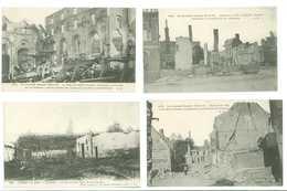 80 - GUERRE 1914 -15 -- ALBERT - Lot De 4 Cartes - Albert
