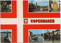 COPENHAGEN, Different Views Copenhagen, Used Postcard [22183] - Denmark