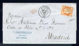 Belle Lettre De Bayonne Pour Madrid ( 1873 ) - 1870 Siège De Paris