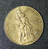 """WW1 - Jeton """"Ligue Des Patriotes - 1870 - 18.. - Qui Vive ? France - Souviens-toi - L.D.P. - Paul Déroulède - WWI - France"""