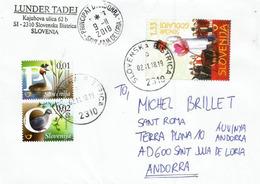 Belle Lettre De Slovénie Adressée Andorra, Avec Timbre à Date Arrivée - Slovénie