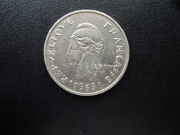POLYNÉSIE FRANÇAISE : 20 FRANCS   1969   G.90 / KM 6     SUP - Polynésie Française