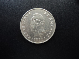 POLYNÉSIE FRANÇAISE : 20 FRANCS   1970   G.91 / KM 6     SUP - Polynésie Française