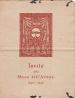 7772 Eb.   Invito Alla Messa Dell' Artista 1948 - 1949  Presso Chiesa S. Rocco Torino - Programmi