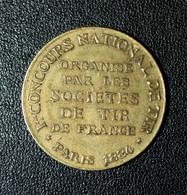 """Jeton """"Ligue Des Patriotes - Souviens-toi - L.D.P. - Paul Déroulède / Concours De Tir - Paris 1884 - France"""