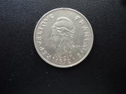 POLYNÉSIE FRANÇAISE : 20 FRANCS   1972   G.92 / KM 6     SUP - Polynésie Française