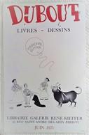 BELLE AFFICHE ANCIENNE ORIGINALE Illustrée Par ALBERT DUBOUT EXPOSITION TAUROMACHIE 1975 - Affiches