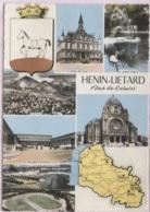 CPSM - HENIN LIETARD - Multivues Carte Géo Pas De Calais - Edition Combier - Henin-Beaumont