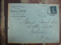 Minoterie A Cylindres Francois Chene Aux Rochards Saint Pierre Montlimard Enveloppe Commerciale - France