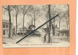 CPA - Fresnoy Le Grand -  La Place Vatin Vers La Rue De Bohain - ( Camion Ancien ) - Andere Gemeenten