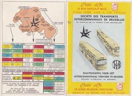 BELGIUM - SOCIÉTE DES TRANSPORTS INTERCOMMUNAUX DE BRUXELES - TRAMWAYS AUTOBUS - MAP 1958 - Europe