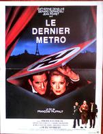 AFFICHE CINE ORIG LE DERNIER METRO 40X60 (Truffaut/1980) Deneuve Depardieu - Posters