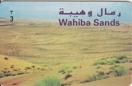 OMAN - Wahiba Sands, Alpha Prepaid Card RO 3, Used - Landschappen