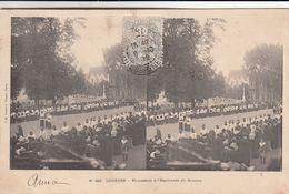 Cp , CARTES STÉRÉOSCOPIQUES , LOURDES , Procession à L'Esplanade Du Rosaire - Stereoscope Cards