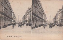 Cp , CARTES STÉRÉOSCOPIQUES , PARIS , Rue De Castiglione - Stereoscope Cards